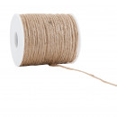Jute cord, diameter 2mm, length 100 m, natural